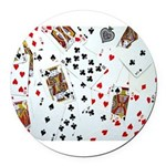 Playing Cards Round Car Magnet