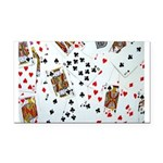 Playing Cards Rectangle Car Magnet