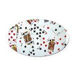 Playing Cards Oval Car Magnet