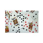 Playing Cards Rectangle Magnet (10 pack)