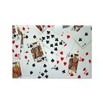 Playing Cards Rectangle Magnet