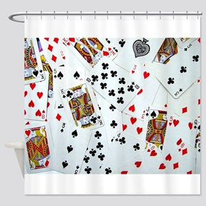 Playing Cards Shower Curtain
