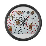 Playing Cards Large Wall Clock