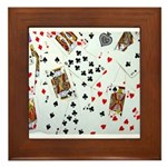 Playing Cards Framed Tile