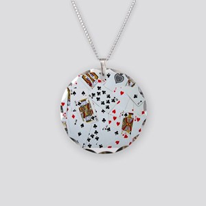 Playing Cards Necklace Circle Charm