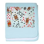 Playing Cards baby blanket