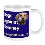 """Official Dogs Against Romney """"Rusty"""" Mug"""