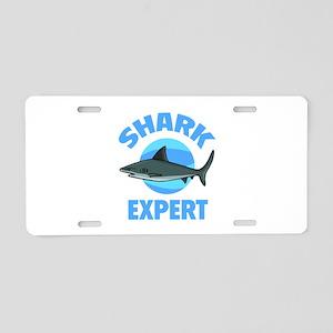 Shark Expert Aluminum License Plate