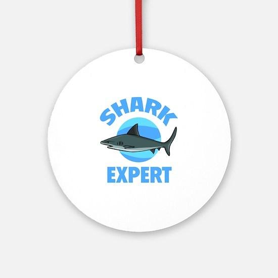 Shark Expert Ornament (Round)