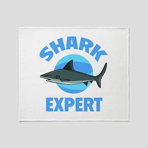 Shark Expert Throw Blanket