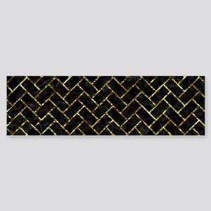 BRICK2 BLACK MARBLE & GOLD FOIL Sticker (Bumper)