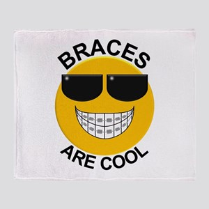 Braces Are Cool / Sunglasses Throw Blanket