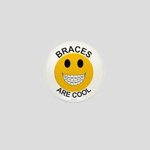 Braces Are Cool Mini Button