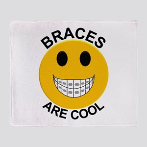 Braces Are Cool Throw Blanket