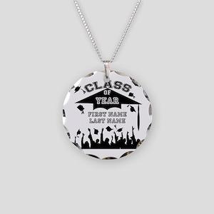 Graduation Necklace Circle Charm