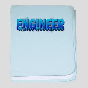 Water Resources Engineer baby blanket