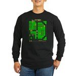 Mr Do! Game Screen Long Sleeve Dark T-Shirt