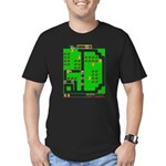 Mr Do! Game Screen Men's Fitted T-Shirt (dark)