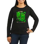 Mr Do! Game Screen Women's Long Sleeve Dark T-Shir