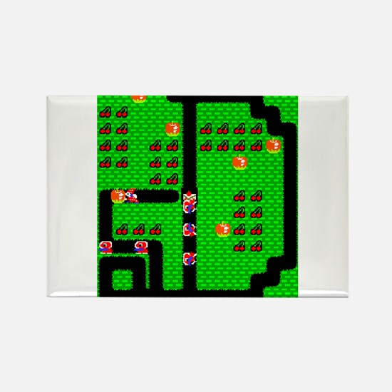Mr Do! Game Screen Rectangle Magnet