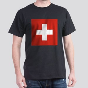 Flag of Switzerland Dark T-Shirt
