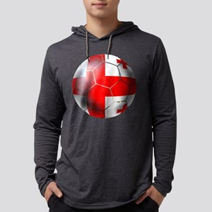 Georgia Soccer Ball Mens Hooded Shirt