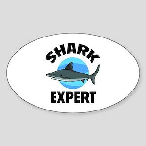 Shark Expert Sticker (Oval)