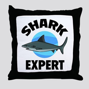 Shark Expert Throw Pillow
