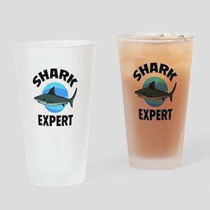 Shark Expert Drinking Glass