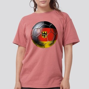 German Soccer Ball Womens Comfort Colors Shirt
