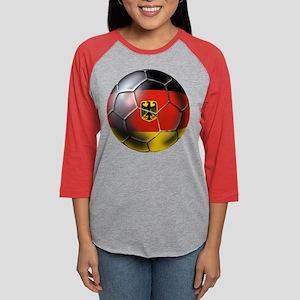 German Soccer Ball Womens Baseball Tee