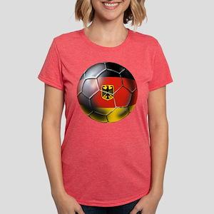 German Soccer Ball Womens Tri-blend T-Shirt