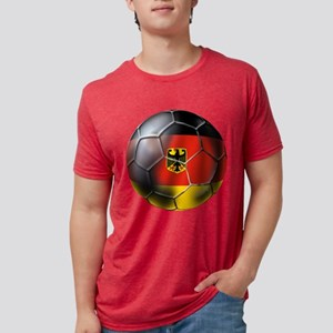 German Soccer Ball Mens Tri-blend T-Shirt
