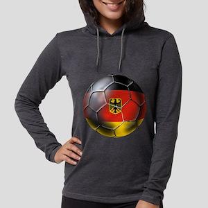 German Soccer Ball Womens Hooded Shirt
