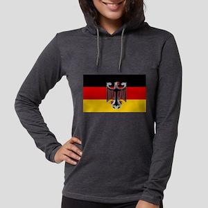 German Soccer Flag Womens Hooded Shirt