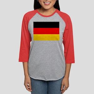 Flag of Germany Womens Baseball Tee