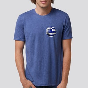 Greece Football Mens Tri-blend T-Shirt