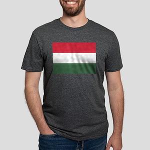 Flag of Hungary Mens Tri-blend T-Shirt