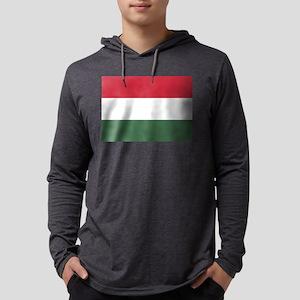 Flag of Hungary Mens Hooded Shirt
