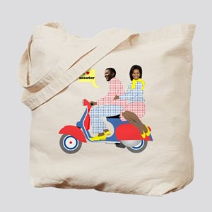 Obama Heart Vespa Tote Bag