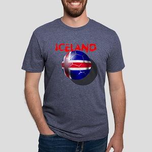 Iceland Football Mens Tri-blend T-Shirt