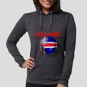 Iceland Football Womens Hooded Shirt