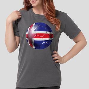 Iceland Soccer Ball Womens Comfort Colors Shirt