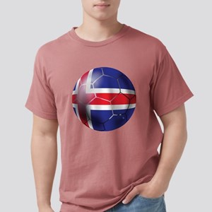 Iceland Soccer Ball Mens Comfort Colors Shirt