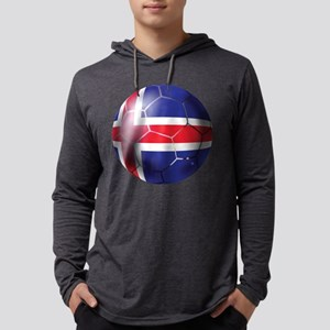 Iceland Soccer Ball Mens Hooded Shirt