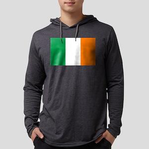 Irish Flag Mens Hooded Shirt