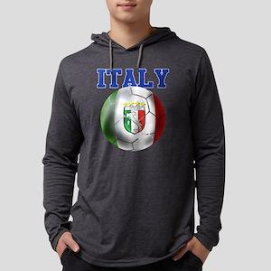 Italy Soccer Ball Mens Hooded Shirt