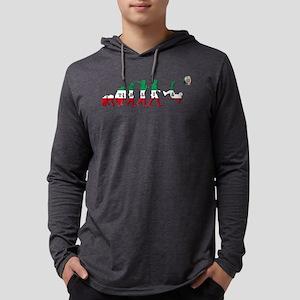 Evolution of Italian Football Mens Hooded Shirt