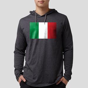 Italian Flag Mens Hooded Shirt