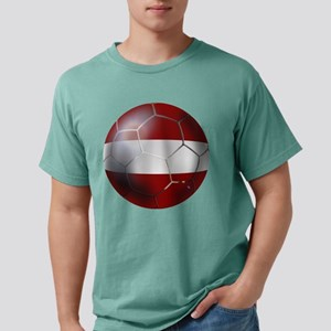 Latvian Football Mens Comfort Colors Shirt